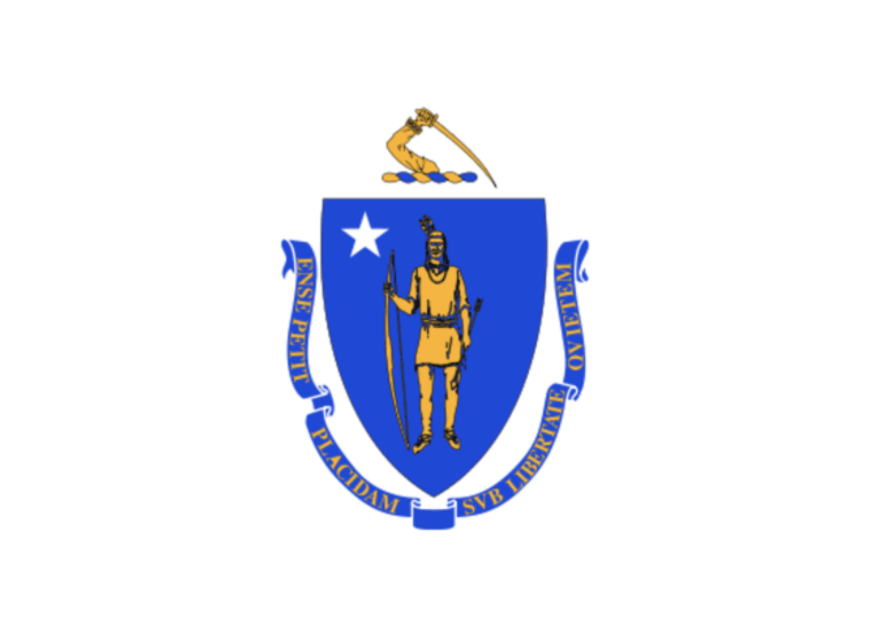 The Massachusetts state flag