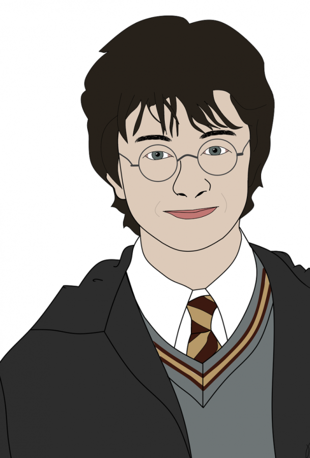 An illustration of Harry Potter, the protagonist of the popular