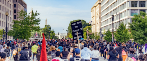 Demonstrators assemble to protest police brutality