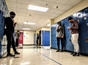 On Tuesdays, 8th grade students conduct pool testing. Each test is conducted by the individual themselves and then given to a lab for larger pool testing //Photo Credit Ruhaan S.